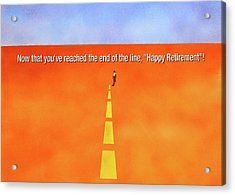 End Of The Line Greeting Card Acrylic Print by Thomas Blood