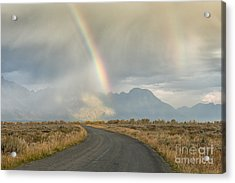 End Of The Rainbow Acrylic Print by Sandra Bronstein