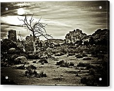 Acrylic Print featuring the photograph End Of The Trail by Tom Vaughan