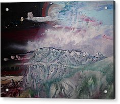 Acrylic Print featuring the painting End Of The World by Steven Holder