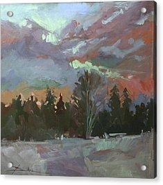 Winter's Last Flame Acrylic Print