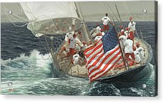 Endeavour's Flag Acrylic Print by Julia O'Malley-Keyes