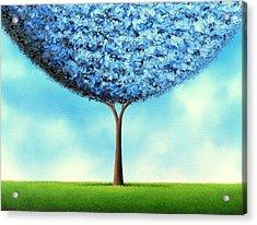 Endless Blue Acrylic Print by Rachel Bingaman