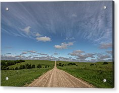 Acrylic Print featuring the photograph Endless Country Road by Scott Bean