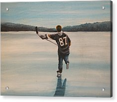 Endless Ice - Sid The Kid Acrylic Print by Ron  Genest