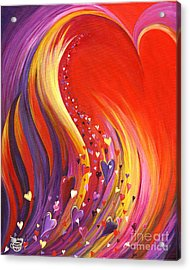 Acrylic Print featuring the painting Arise My Love by Nancy Cupp