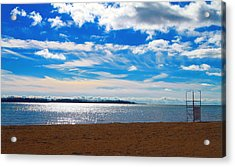 Acrylic Print featuring the photograph Endless Sky by Valentino Visentini
