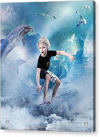 Acrylic Print featuring the digital art Endless Wave by Shanina Conway