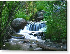 Acrylic Print featuring the photograph Endo Valley Waterfall by Perspective Imagery