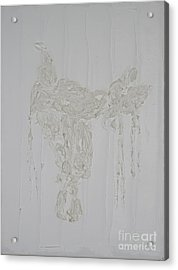Endurance Saddle Ivory Acrylic Print by Richard W Linford