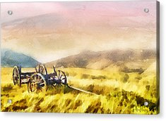 Acrylic Print featuring the painting Enduring Courage by Greg Collins