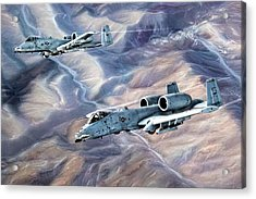 Enduring Freedom Acrylic Print by Peter Chilelli