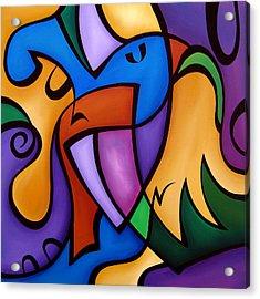 Energized - Abstract Art By Fidostudio Acrylic Print by Tom Fedro - Fidostudio