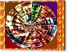 Energy Aura Cleaning Wheel In Motion Yoga Meditation Mandala By Navinjoshi At Fineartamerica.com Acrylic Print
