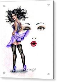 Energy Burst Acrylic Print by Scarlett Royal