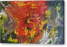 Energy Of Creation Acrylic Print by Georgeta  Blanaru