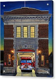Engine Company 10 Acrylic Print by Paul Walsh