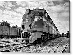 Engine Number 5888 Black And White Acrylic Print