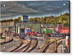 Engine Sheds Quainton Road Buckinghamshire Railway Acrylic Print by Chris Thaxter
