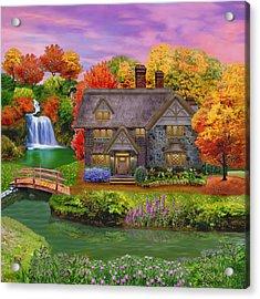 England Country Autumn Acrylic Print