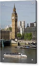 England, London, Big Ben And Thames River Acrylic Print by Jerry Driendl