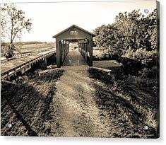 Engle Mill Covered Bridge Acrylic Print