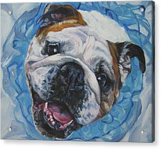 English Bulldog Acrylic Print by Lee Ann Shepard