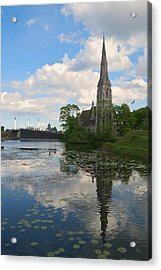 Acrylic Print featuring the photograph English Church In Copenhagen by Steven Richman