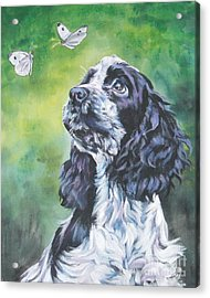 English Cocker Spaniel  Acrylic Print by Lee Ann Shepard