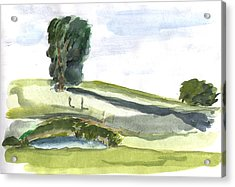 English Countryside Acrylic Print by Kevin Callahan