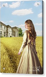 English Countryside With Mansion Acrylic Print by Amanda Elwell