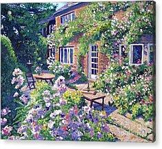 English Courtyard Acrylic Print by David Lloyd Glover