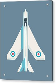 English Electric Lightning Fighter Jet Aircraft - Slate Acrylic Print