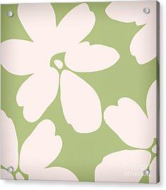English Garden Floral Pattern Acrylic Print