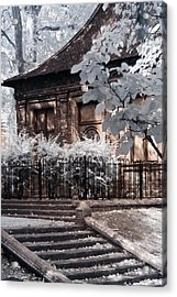 English Garden House Acrylic Print by Helga Novelli