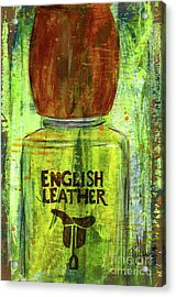 Acrylic Print featuring the painting English Leather by P J Lewis