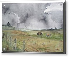 Acrylic Print featuring the painting English Memories by Sibby S