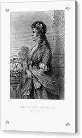 Engraved Portrait Of Mrs. Chauncey Goodrich, Mary Wolcott, Circa 1790 Acrylic Print