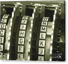 Enigma Cipher Machine Acrylic Print by English School