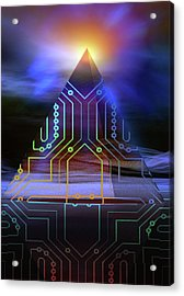 Acrylic Print featuring the digital art Enigma Of Ancient Technology by Shadowlea Is