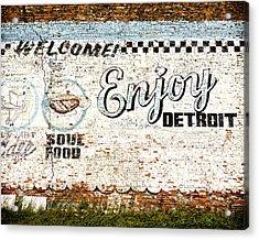 Enjoy Detroit Acrylic Print by Humboldt Street