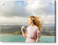 Acrylic Print featuring the photograph Enjoy The Breeze by Geoffrey Lewis