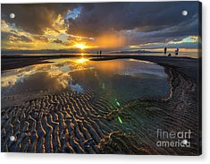 Enjoying A Sunset At The Great Salt Lake Acrylic Print