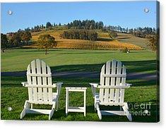 Enjoying Oregon Wine Country Acrylic Print