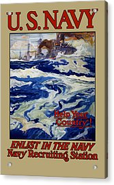 Enlist In The Navy - Help Your Country Acrylic Print