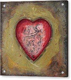 Enshrine - Inward Heart Acrylic Print
