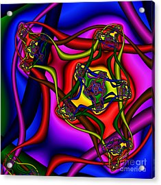 Entangled 114 Acrylic Print by Rolf Bertram