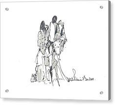 Entangled Forms Acrylic Print by Padamvir Singh