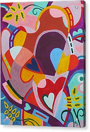 Entangled Hearts Acrylic Print by Molly Williams