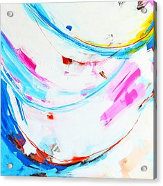 Entangled No. 8 - Left Side - Abstract Painting Acrylic Print